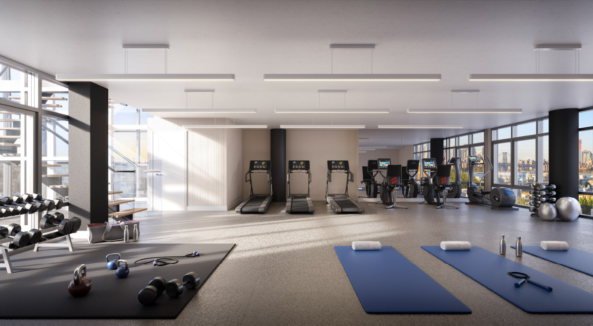 OTTO Greenpoint Luxury Apartments gym