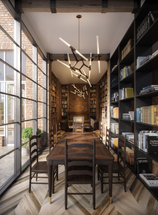 OTTO Greenpoint Luxury Apartments Library