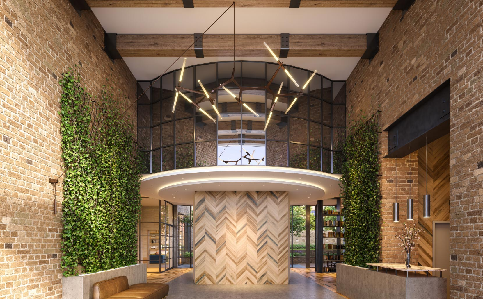 OTTO Greenpoint Luxury Apartments Lobby
