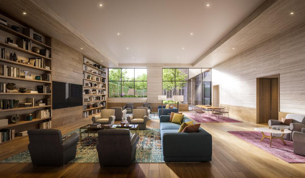 OTTO Greenpoint Luxury Apartments Lounge