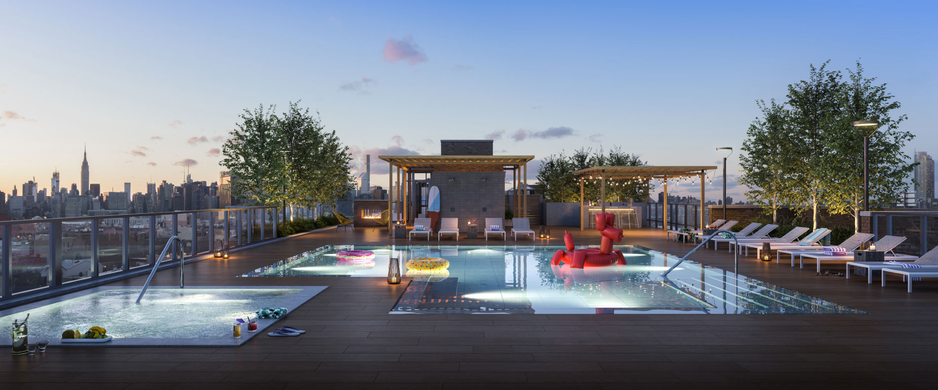 OTTO Greenpoint Luxury Apartments Roof Deck